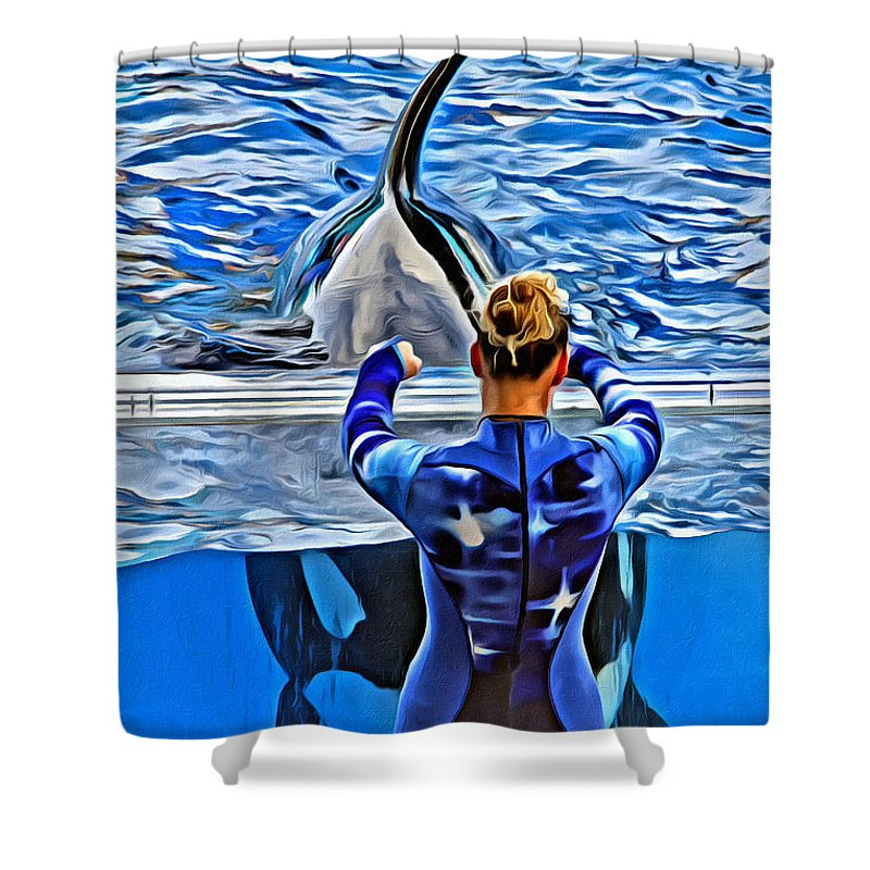 Whale Shower Curtain featuring the photograph Shapely Orca by Alice Gipson