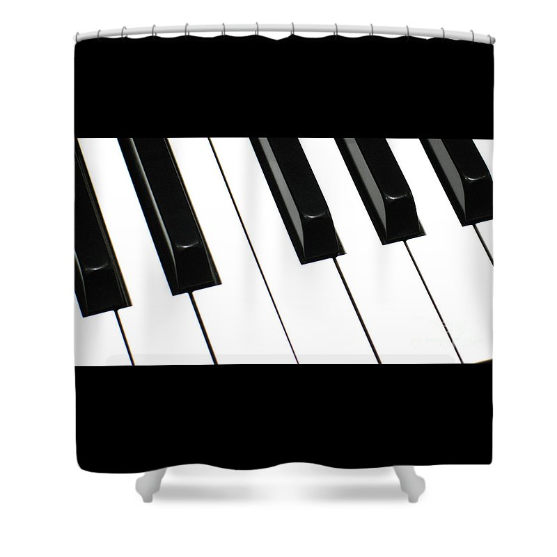 Piano Shower Curtain featuring the photograph Sharps And Flats by Ann Horn