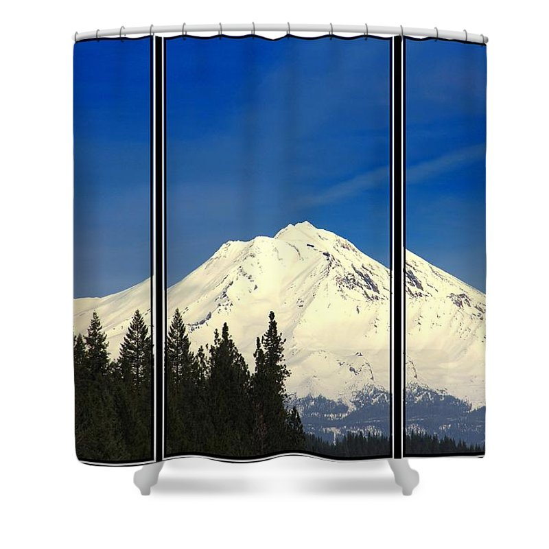 Mountain Shower Curtain featuring the photograph Shasta by Athala Bruckner