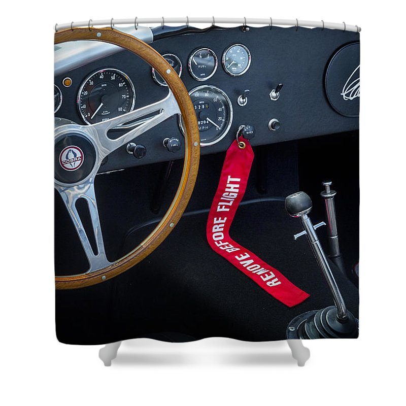 Car Shower Curtain featuring the photograph Shelby Cobra by Bill Wakeley