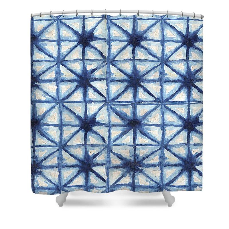 Shibori Shower Curtain featuring the digital art Shibori Iv by Elizabeth Medley