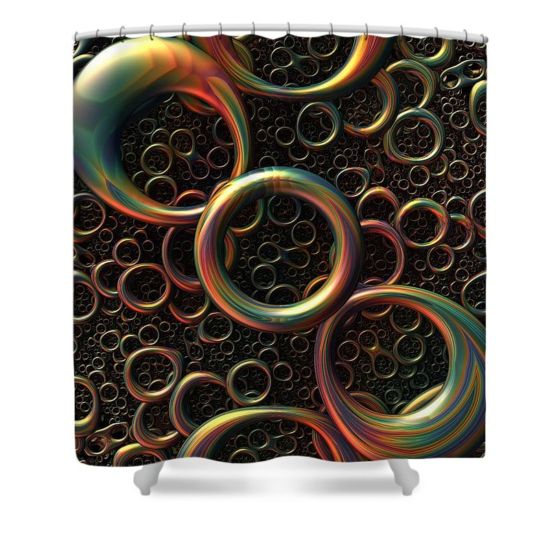 Torus Shower Curtain Featuring The Digital Art Shimmer By Lyle Hatch