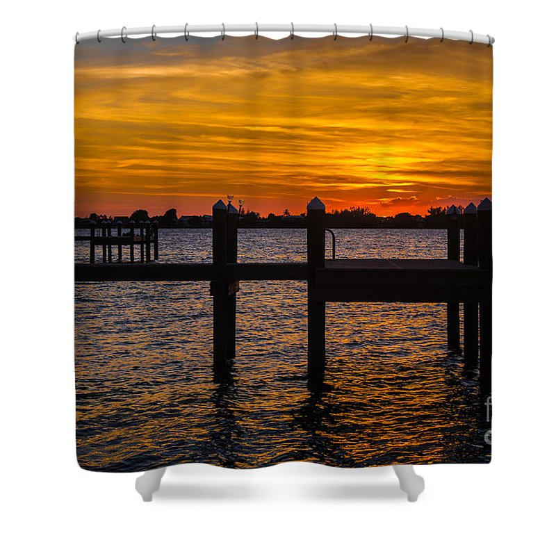 Florida Keys Shower Curtain featuring the photograph Shine On Liquid Gold by Rene Triay Photography