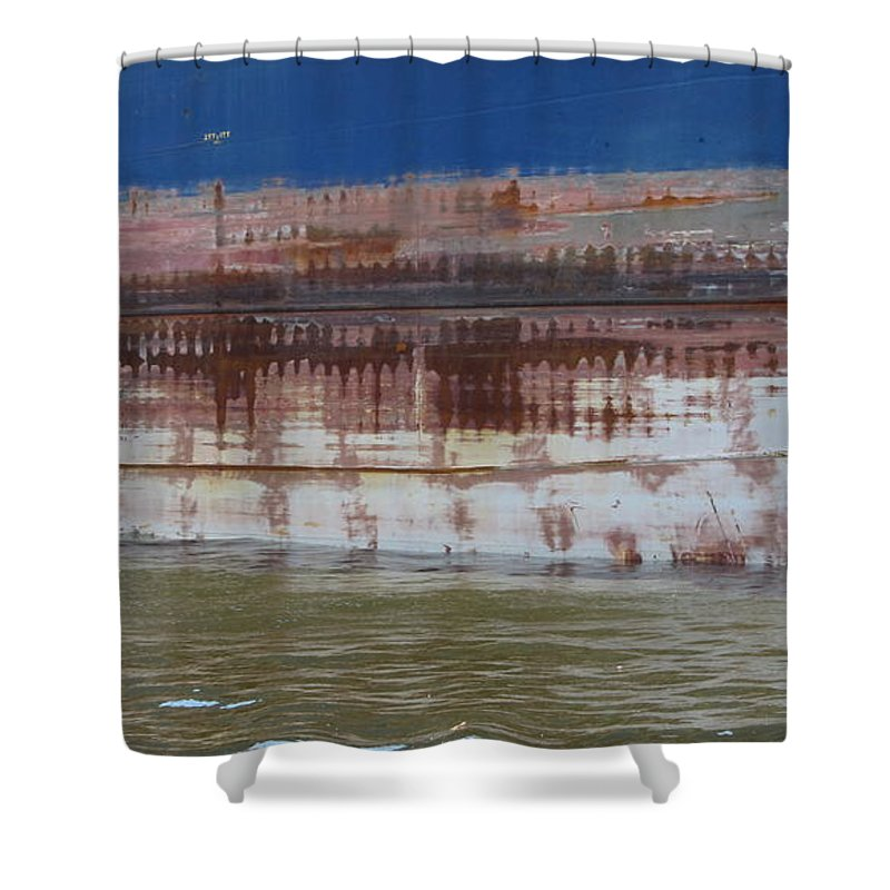 Ship Shower Curtain featuring the photograph Ship Rust 4 by Anita Burgermeister