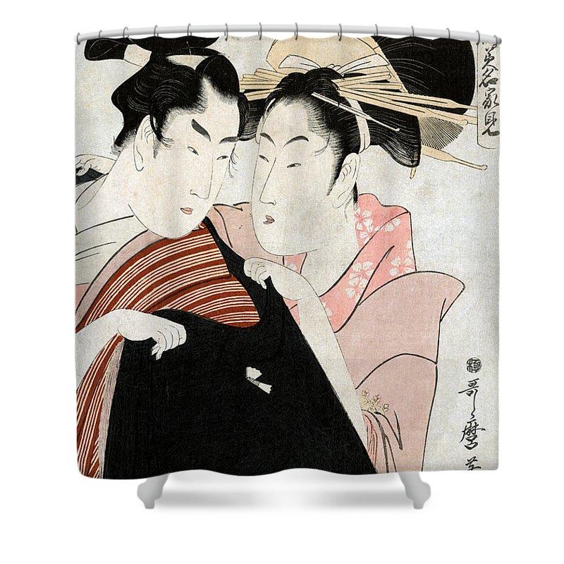1798 Shower Curtain featuring the photograph Shirai Gonpachi, C1798 by Granger