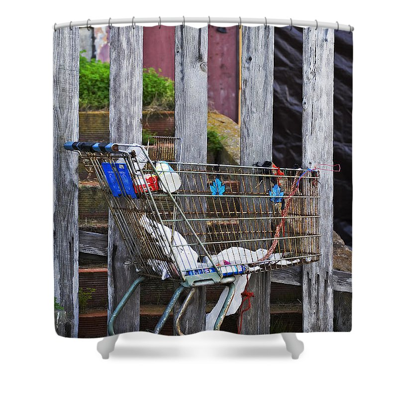 California Shower Curtain featuring the photograph Shopping Cart by Peter Tellone