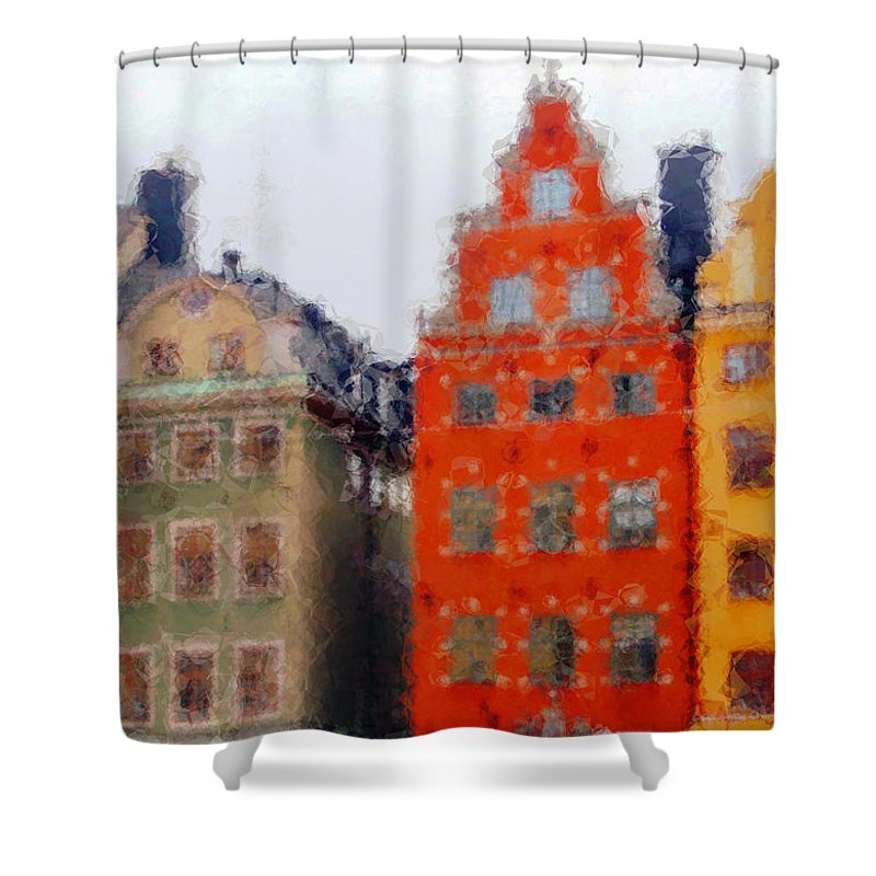 Cityscape Shower Curtain featuring the photograph Way Home by Jack Gannon