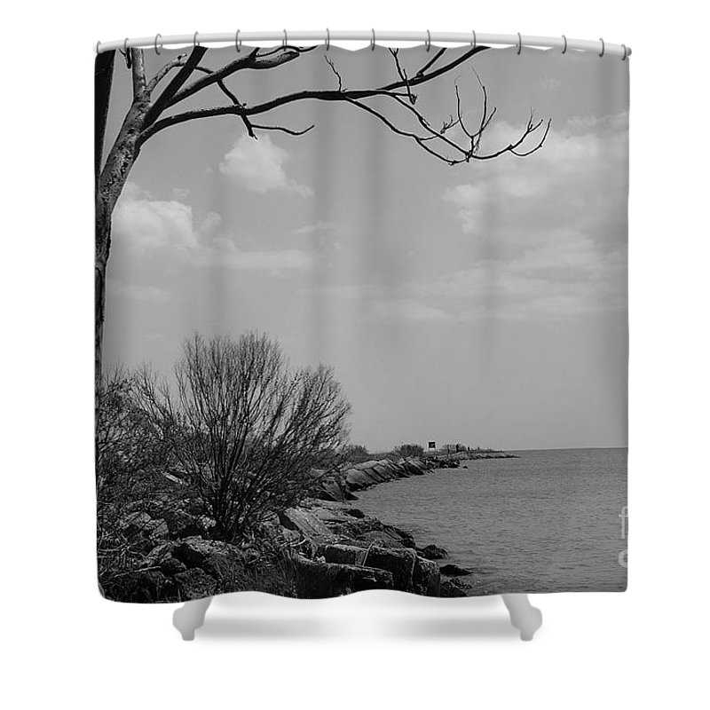 Water Shower Curtain featuring the photograph Shoreline by John J Calhoun