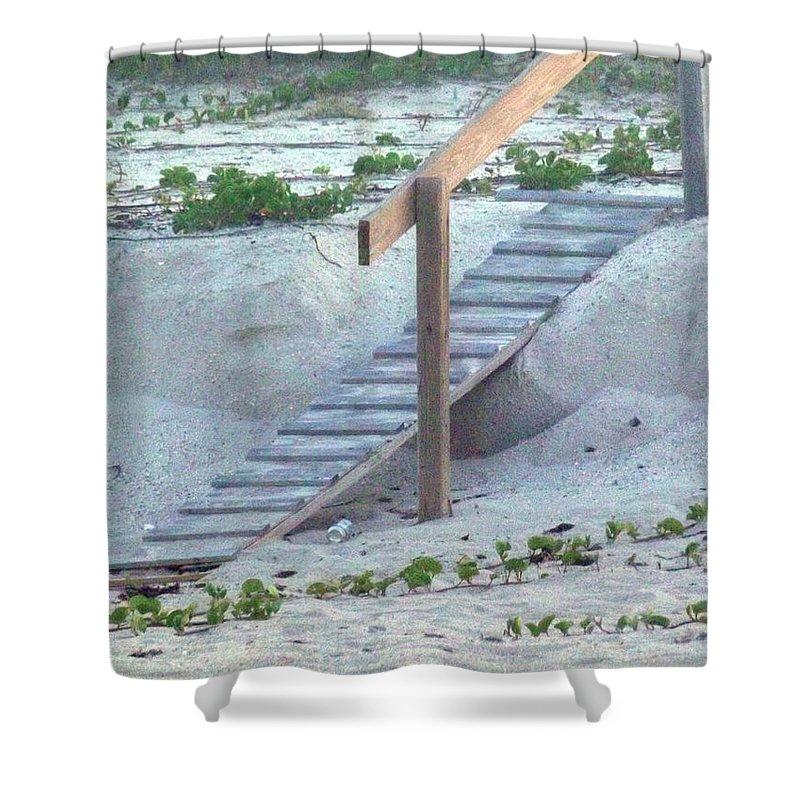 Ramp Shower Curtain featuring the photograph Short Cut by Jennifer Lavigne