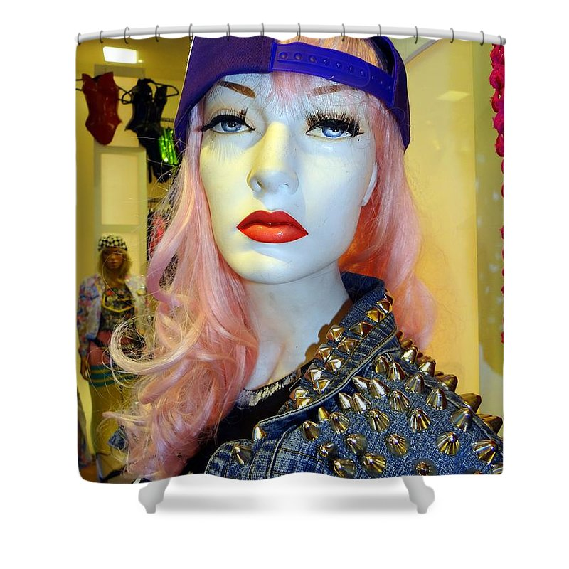 Mannequins Shower Curtain featuring the photograph Shoulder Studs by Ed Weidman