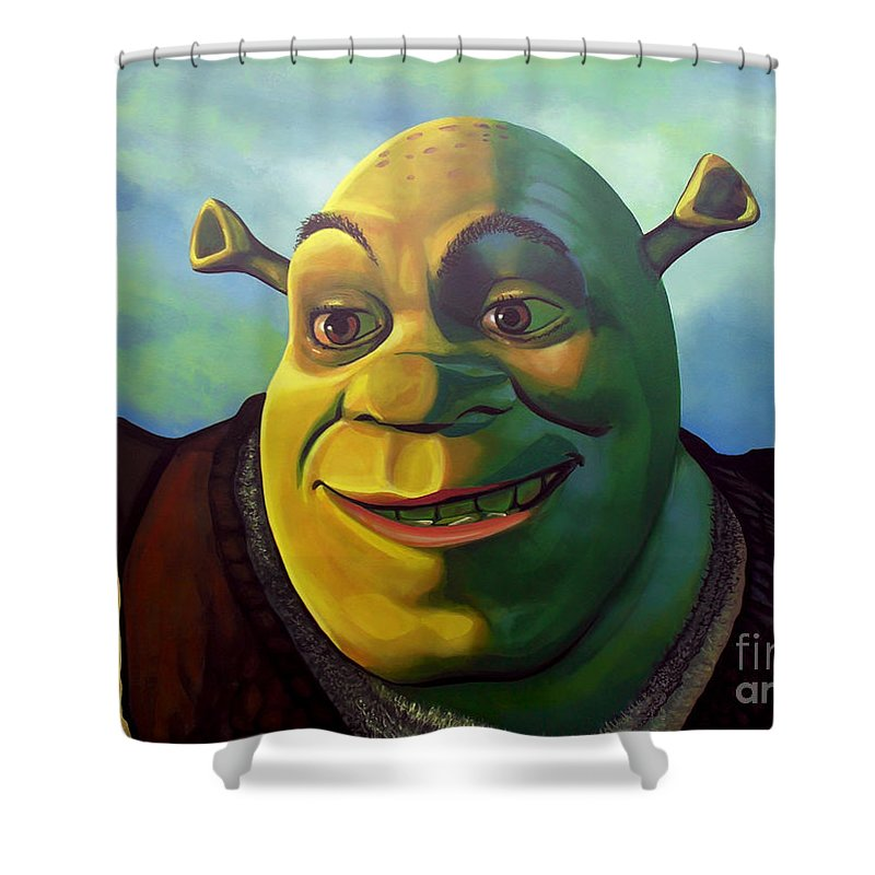 Shrek Shower Curtain Featuring The Painting By Paul Meijering