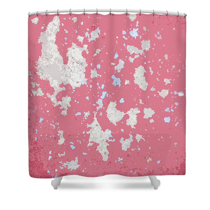 Abstract Shower Curtain featuring the photograph Sidewalk Abstract-15 by Art Block Collections