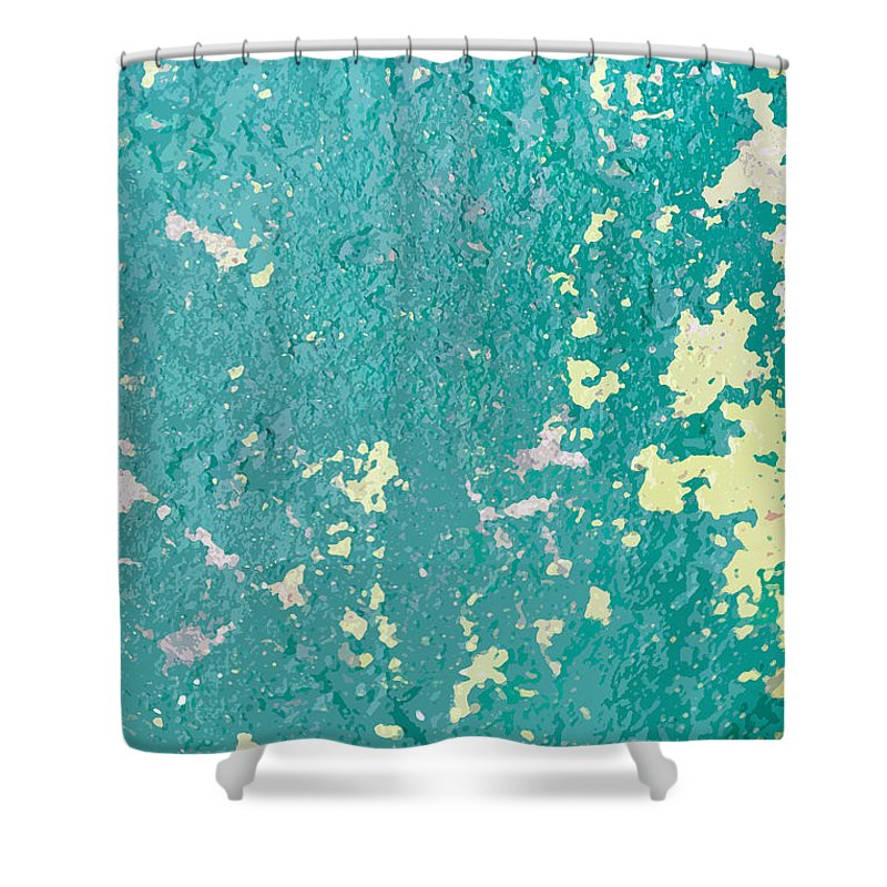 Sidewalk Shower Curtain featuring the photograph Sidewalk Abstract-23 by Art Block Collections