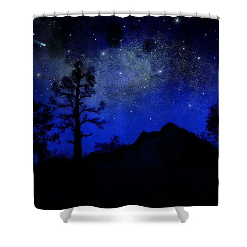 Sierra Silhouette Shower Curtain featuring the painting Sierra Silhouette Wall Mural by Frank Wilson