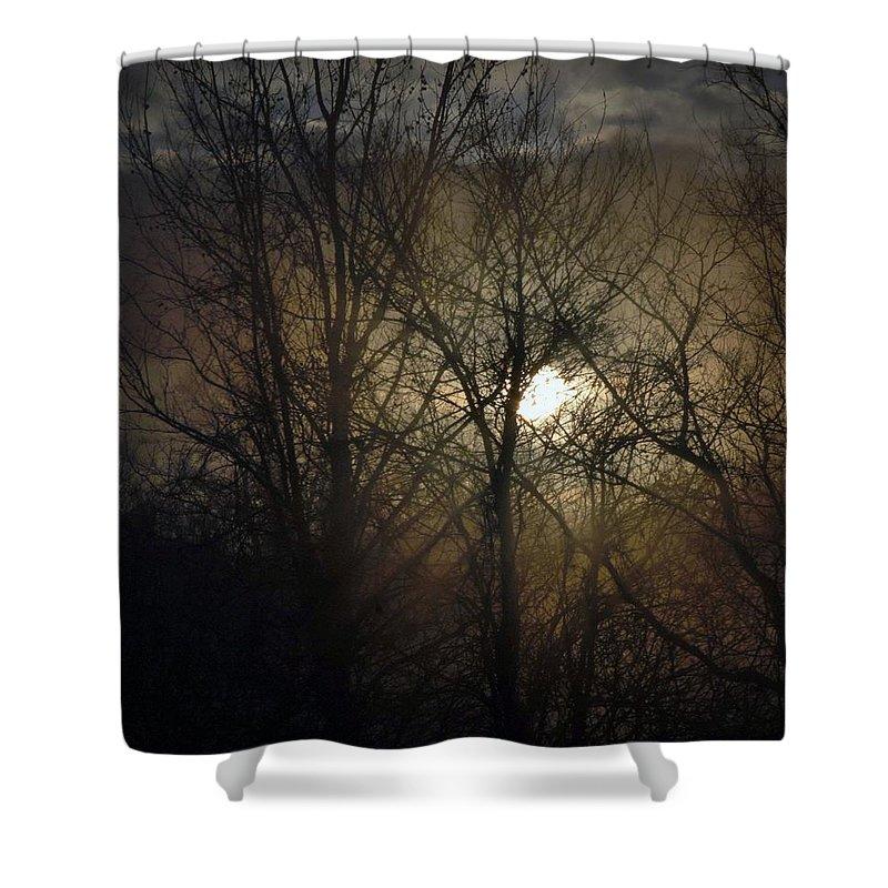 Fog Shower Curtain featuring the photograph Silent Foggy Sunrise by John Glass