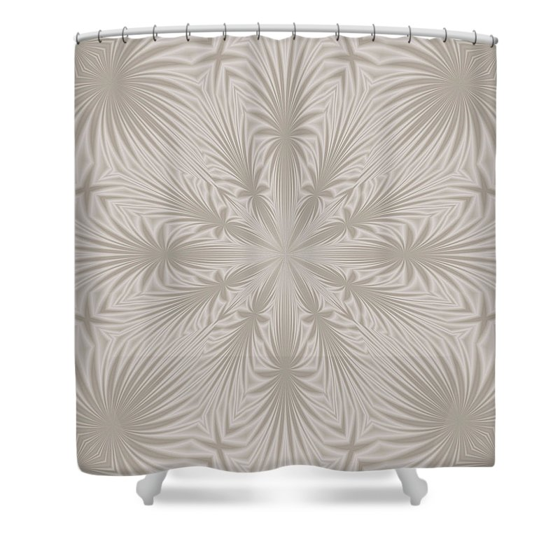 Silver Shower Curtain featuring the digital art Silver Drapery by Lena Photo Art