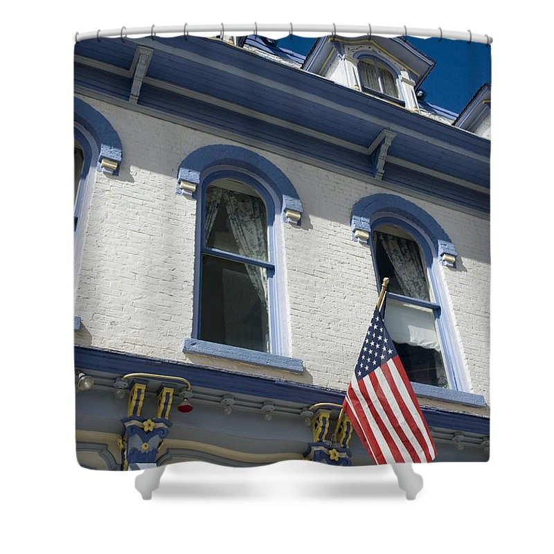 Old Shower Curtain featuring the photograph Silverton Hotel by Jerry McElroy