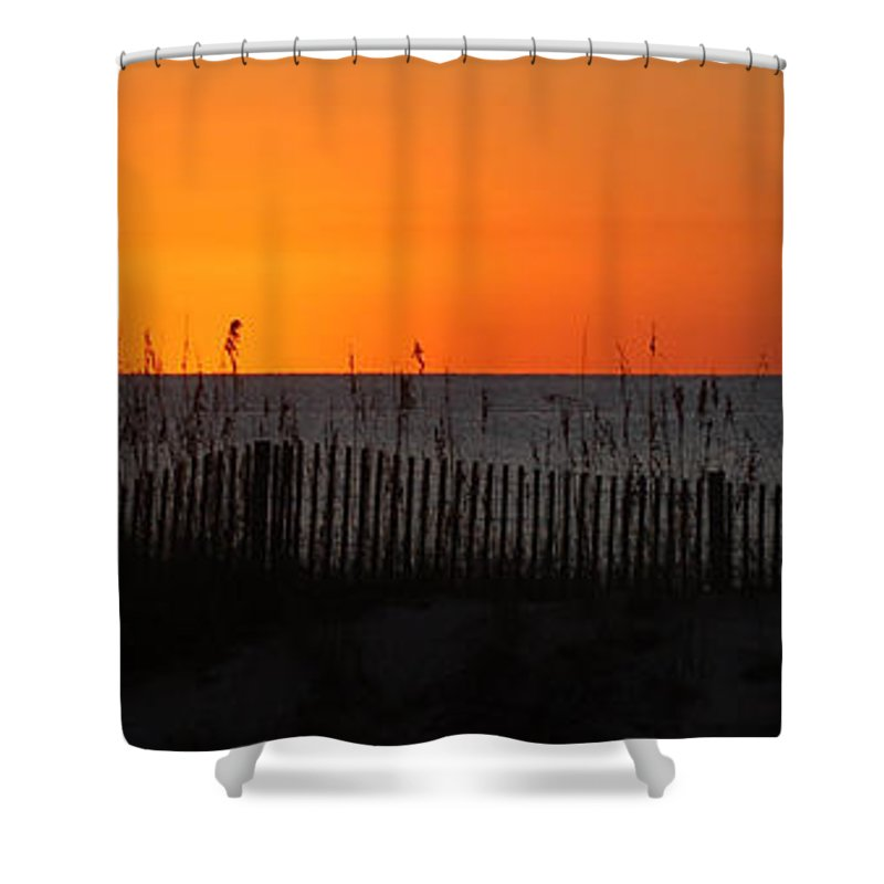 Alabama Shower Curtain featuring the digital art Simply Orange by Michael Thomas