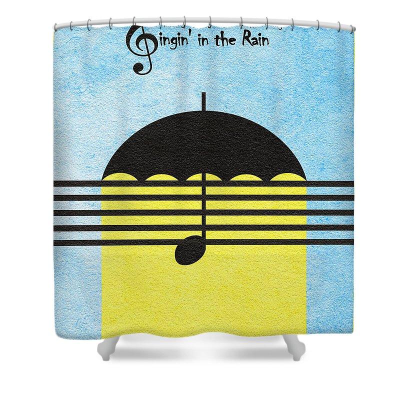Singin In The Rain Shower Curtain Featuring Digital Art