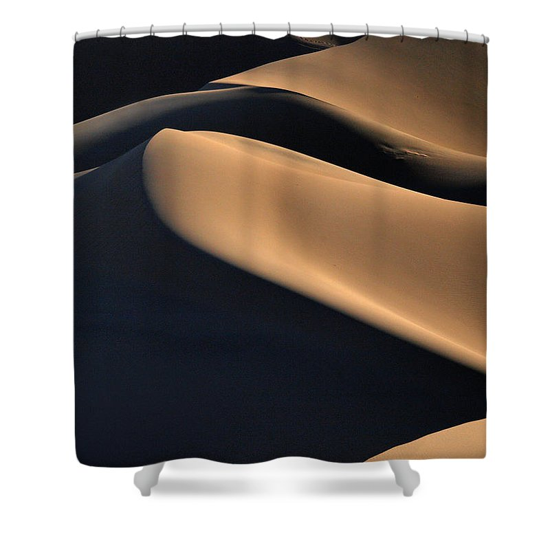 Death Valley Shower Curtain featuring the photograph Sinuous Dunes by Joe Schofield