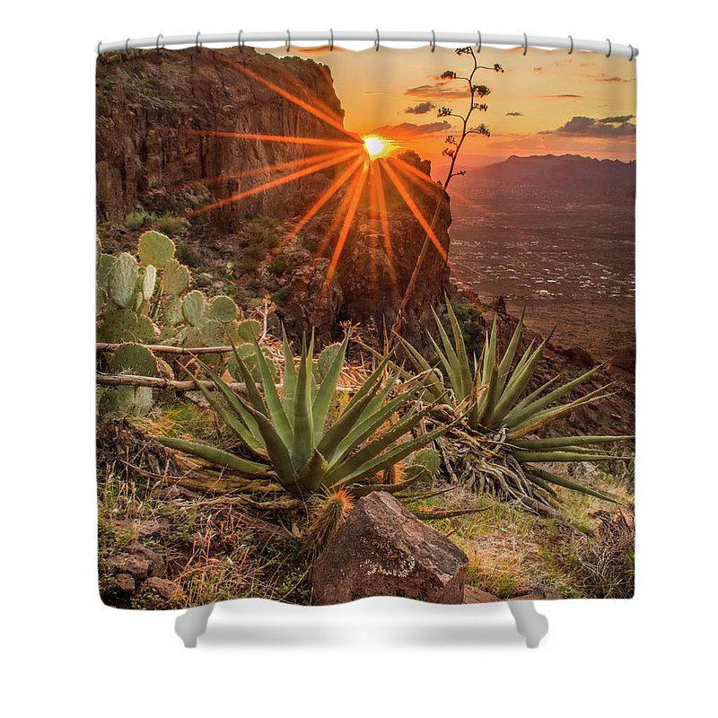 Tranquility Shower Curtain featuring the photograph Siphon Draw Magic by J.t