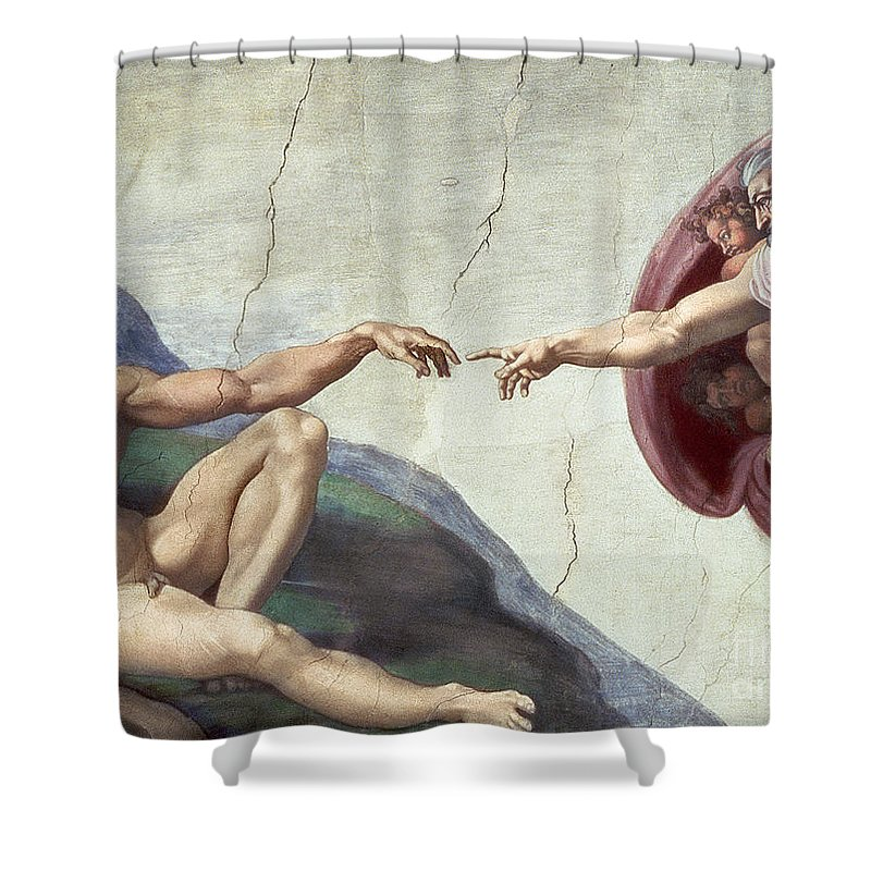 Renaissance Shower Curtain featuring the painting Sistine Chapel Ceiling by Michelangelo Buonarroti