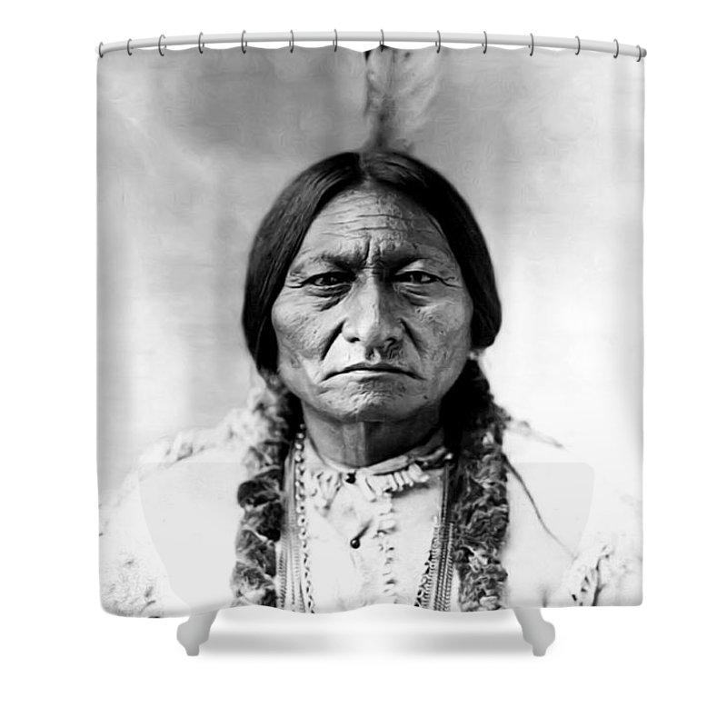 Sitting Bull Shower Curtain featuring the photograph Sitting Bull by Bill Cannon