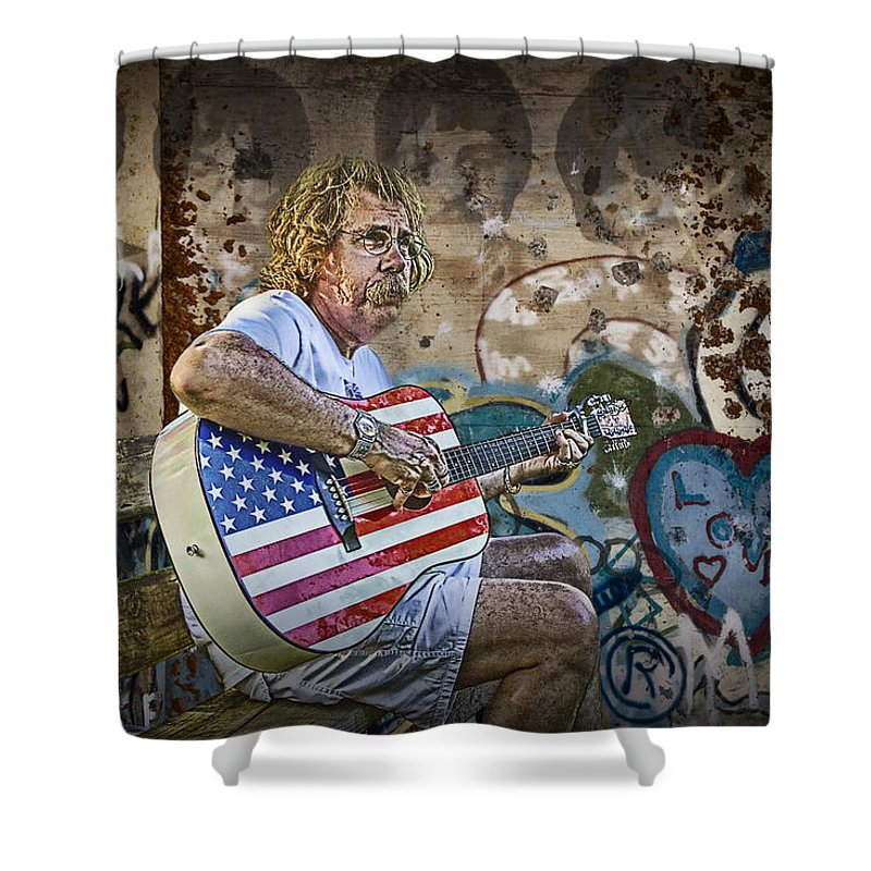 Art Shower Curtain featuring the photograph Sixties Refugee by Randall Nyhof