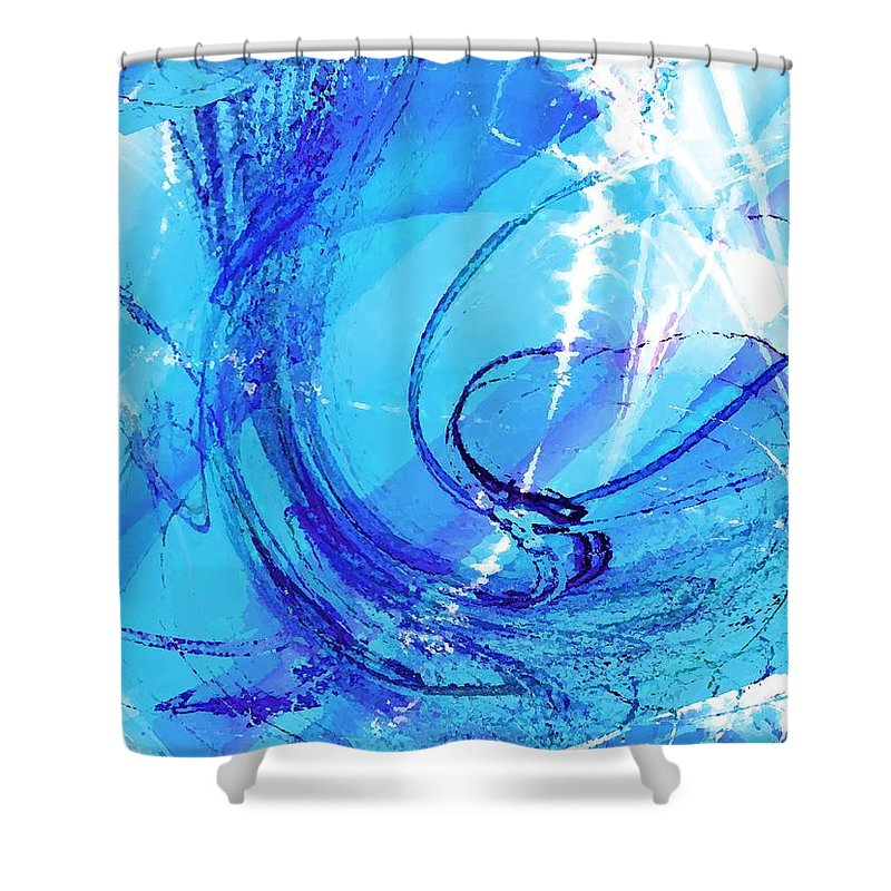 Malakhova Shower Curtain featuring the digital art Skating Fantasy by Anastasiya Malakhova