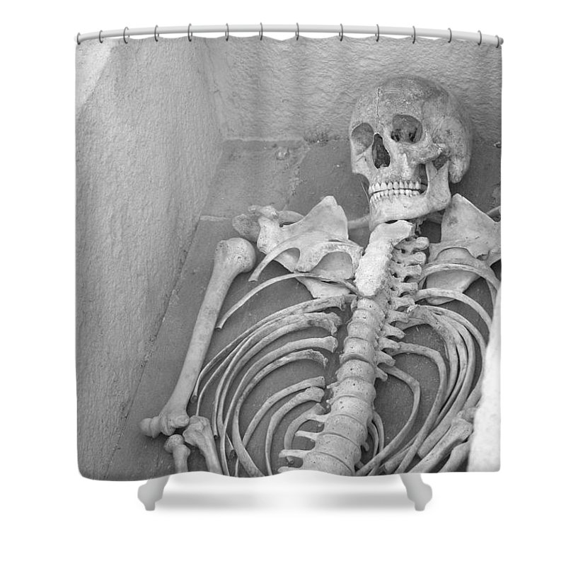 Skeleton Shower Curtain featuring the photograph Skeleton by FL collection