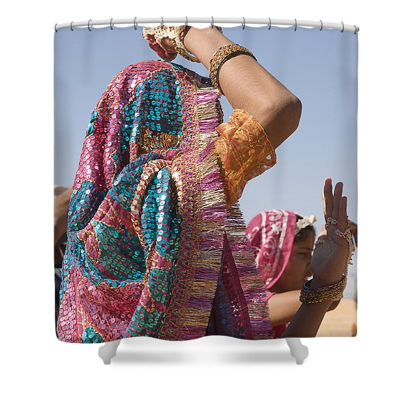 Dress Shower Curtain featuring the photograph Skn 1544 Dressed To Dance by Sunil Kapadia