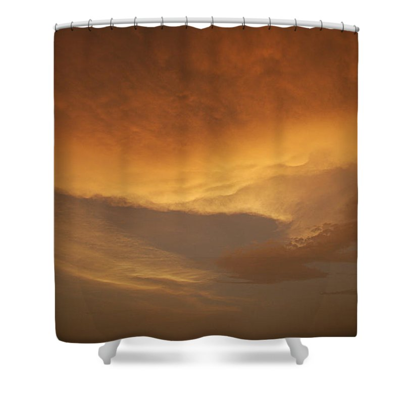 Drama Shower Curtain featuring the photograph Skc 0324 Golden Glow by Sunil Kapadia