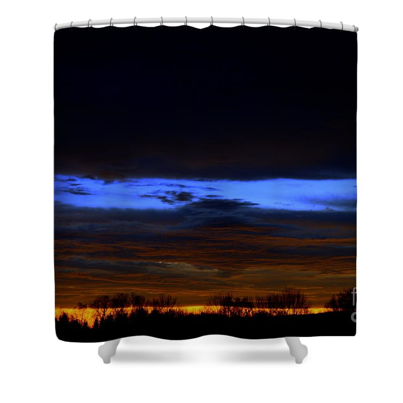 Sunset Shower Curtain featuring the photograph Sky Layers by Neal Eslinger