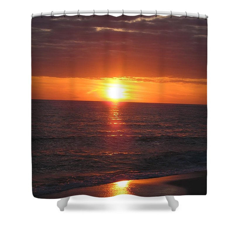 Sunset Shower Curtain featuring the photograph Sky On Fire I by Christiane Schulze Art And Photography