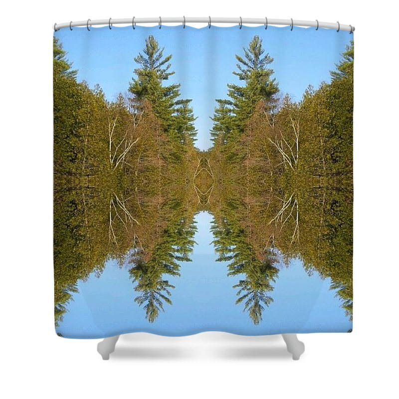 Shower Curtain featuring the photograph Sky Pines II by Jon Glynn
