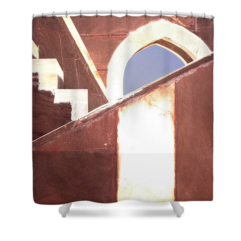 India Shower Curtain featuring the photograph Skylines by A Rey