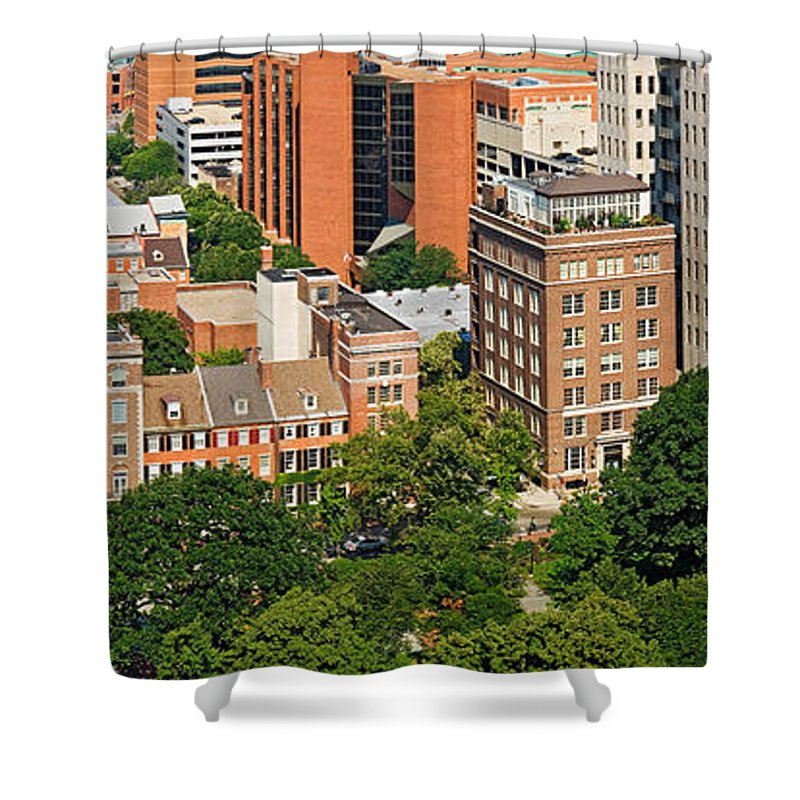 Photography Shower Curtain featuring the photograph Skyscrapers In A City, Washington by Panoramic Images