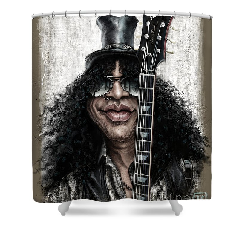 Music Rock Guns N Roses Shower Curtains