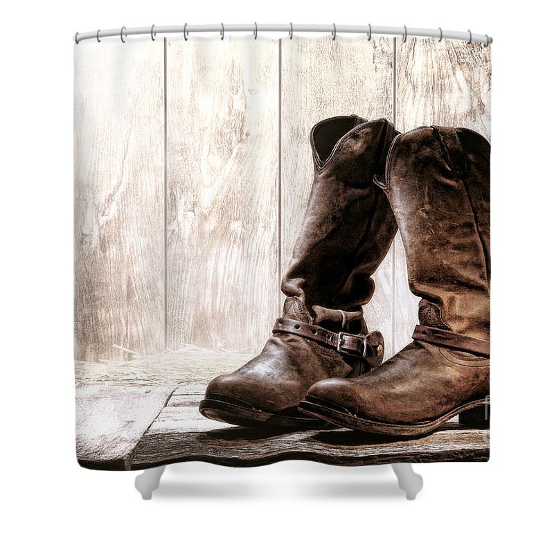 outlet for sale stylish design classic chic Slouch Cowboy Boots Shower Curtain
