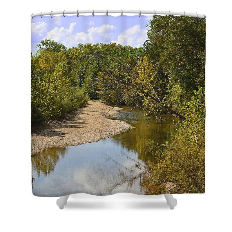 River Shower Curtain featuring the photograph Small River 1 by Debbie Portwood