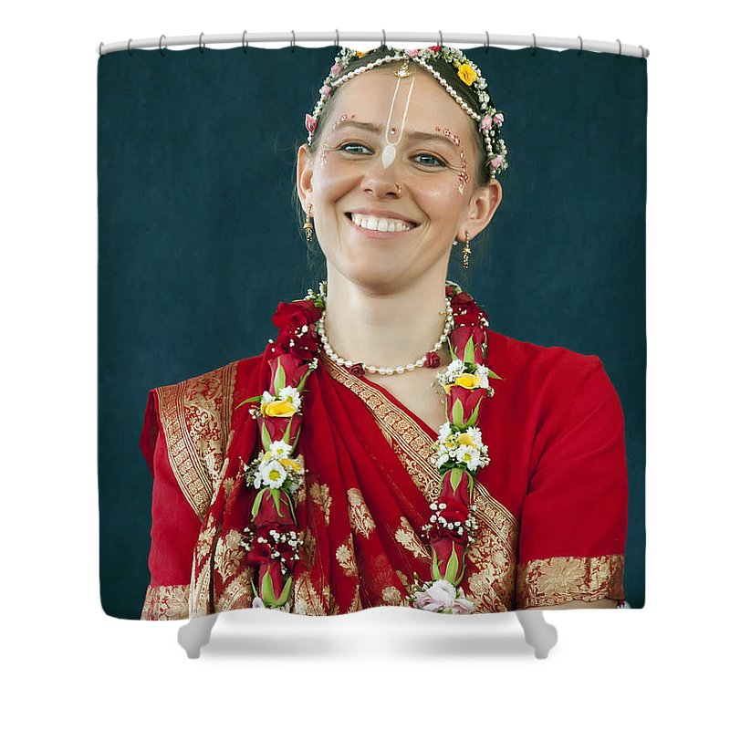 Bride Shower Curtain featuring the photograph Smile by Daniel Csoka