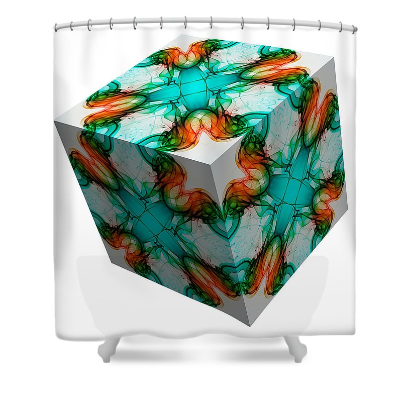 Smoking Trails Shower Curtain featuring the photograph Smoke 3d 1 by Steve Purnell