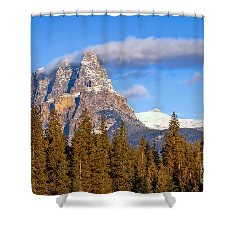Banff National Park Shower Curtain featuring the photograph Smoke Stack by James Anderson
