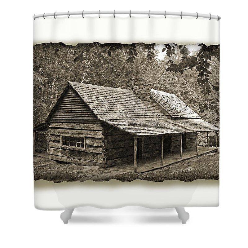 Justjeffaz Shower Curtain featuring the photograph Smokey Mountains Nat Park 43 by Jeff Brunton