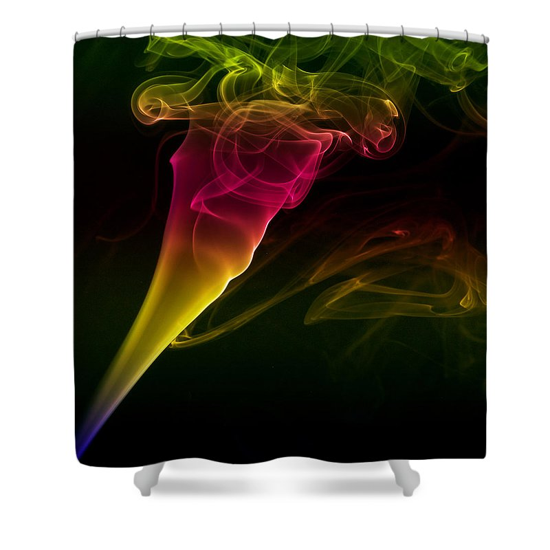 Smoking Trails Shower Curtain featuring the photograph Smokin' Tornado by Steve Purnell