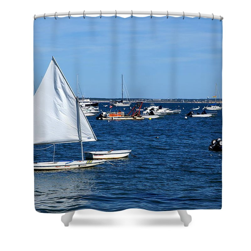 Provincetown Shower Curtain featuring the photograph Smooth Sailing by Ira Shander