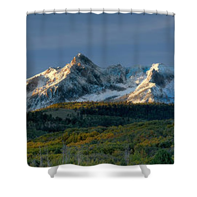 Sneffels Range Shower Curtain featuring the photograph Sneffels Range by Jerry Fornarotto