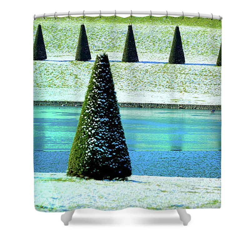 Tranquility Shower Curtain featuring the photograph Snow Covered Garden by Martial Colomb