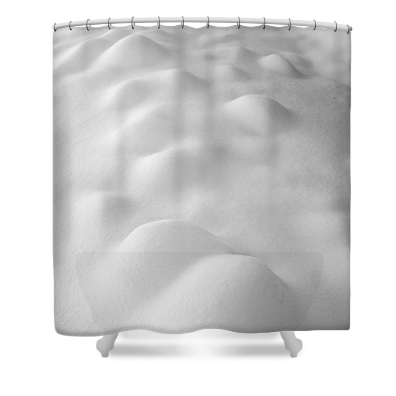 Abstract Shower Curtain featuring the photograph Snow Curvarum by Guido Montanes Castillo