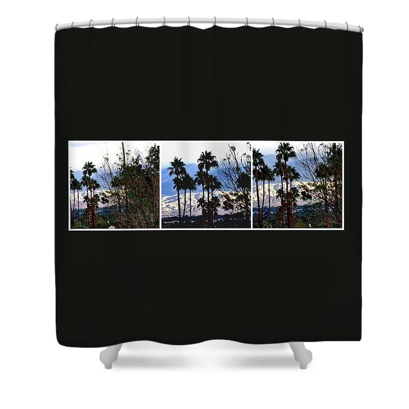 Rain Shower Curtain featuring the photograph Snow Or Sun Shadows by Jay Milo